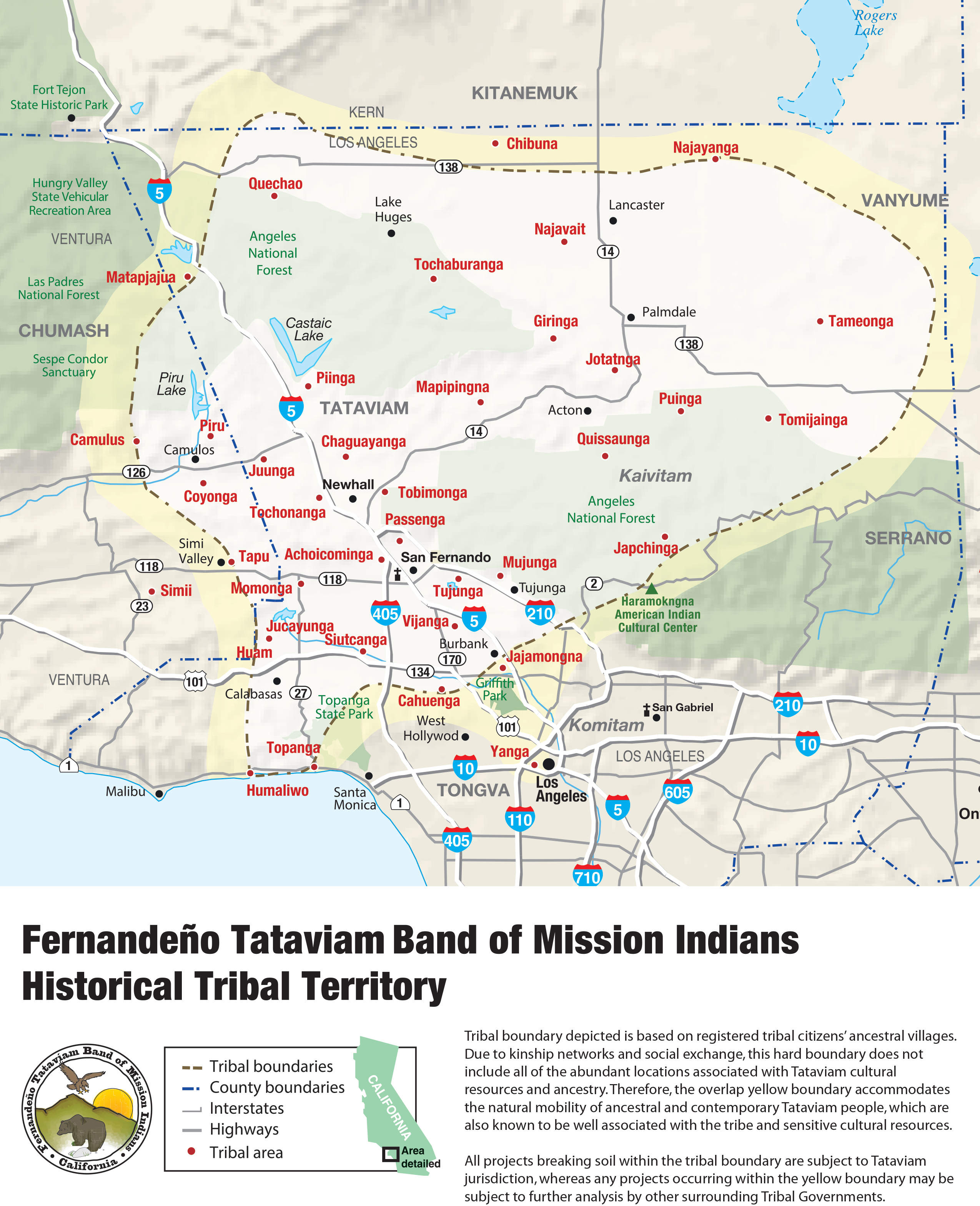 Tataviam Tribal Territory Map 2015
